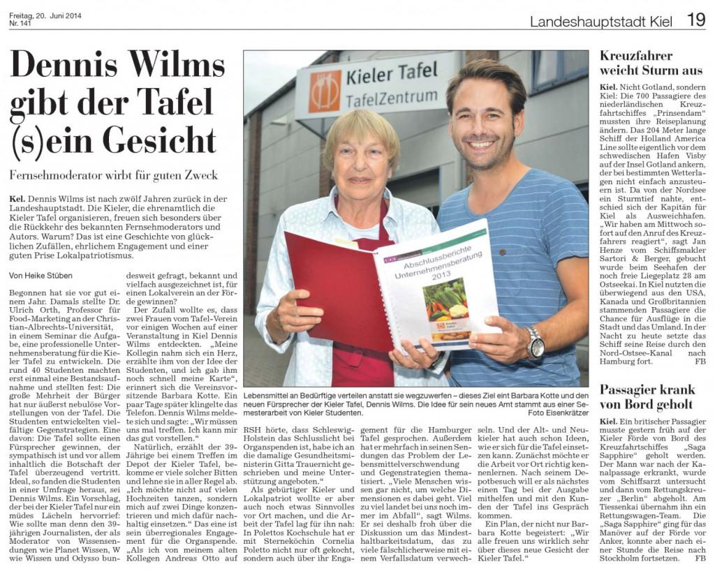 Dennis Wilms gibt der Kieler Tafel (s)ein Gesicht