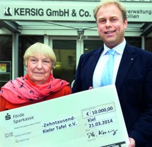 Kersig Kiel spende 10 000 dr philipp kersig kieler tafel e v essen
